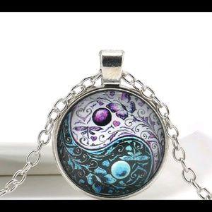 Jewelry - Beautiful butterfly yin &yang pendant necklace